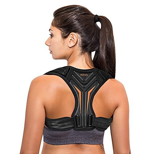 AEVO Corrector de Postura Compacto Unisex, Ajustable Soporte de Clavícula, Cuello, Hombros, Alivia dolor espalda, Placa trasera Cómoda e Invisible, XL