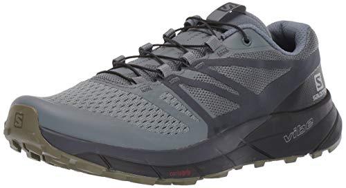Salomon Men's Sense Ride 2 Trail Running Shoes, Stormy Weather/Ebony/Black, 11.5