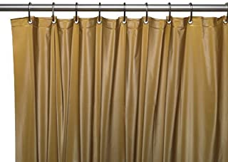 Carnation Home Fashions 3 Gauge Vinyl Shower Curtain Liner With Metal Grommets Gold