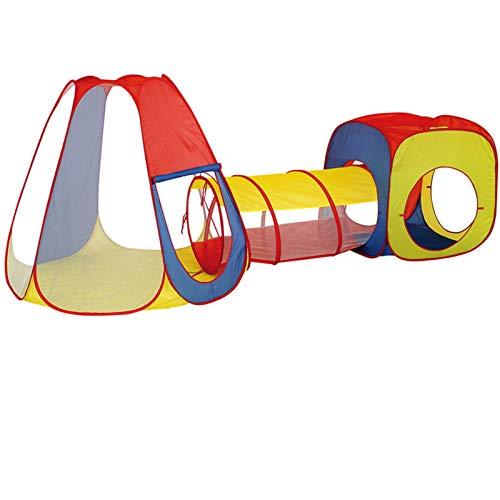 KJZhu Tiendas de campaña Multifuncional Playhouse, policromáticos primera infancia Juguetes 2 en 1 Tiendas / 3 en 1 Tiendas / 4 en 1 Tiendas / 5 en 1 Tiendas de campaña con tubo de arrastre Tiendas ig