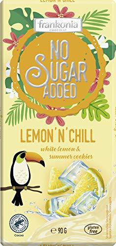 frankonia CHOCOLAT Limited Summer Edition Lemon ´n´Chill - Weiße Lemon & Cookies Schokolade, 90 g