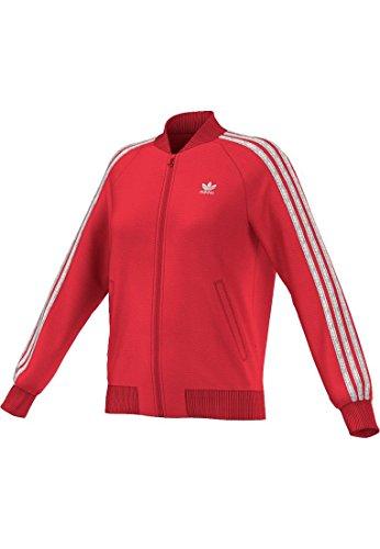 adidas 3-Stripes JKT - Sudadera para Mujer, Color Rojo, Talla 38