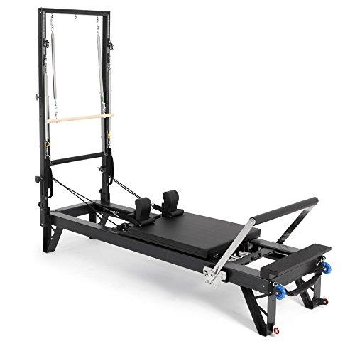 ELINA PILATES. Reformer DE Aluminio HL 3 con Torre – Máquina Pilates para Profesionales. 42 cm Altura de Cama. Reformer desarrollado por técnicos Expertos en Pilates de Todo el Mundo.
