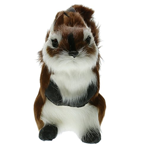 D DOLITY Miniatur Eichhörnchen Ornament Deko Figur Kleiner Eichhörnchen Mini Dekofiguren Tier Tischdeko - b, 10x 10x 16cm