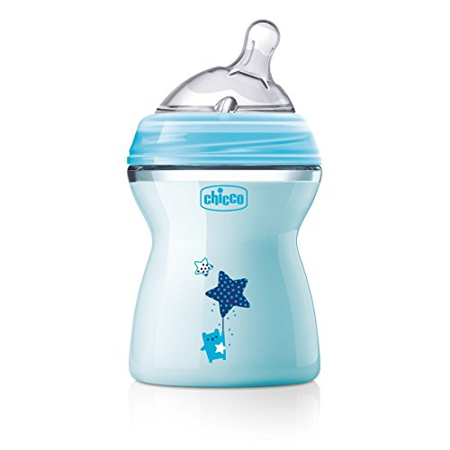 Chicco 00080825210000 Bib Natfeel 2m+ Boy, 250 ml, transparent