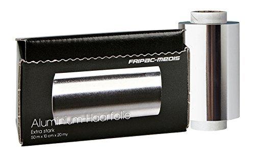 Fripac-Medis - Papel de aluminio para pelo con dispensador, hojas extra resistentes, 10 cm x 50 m