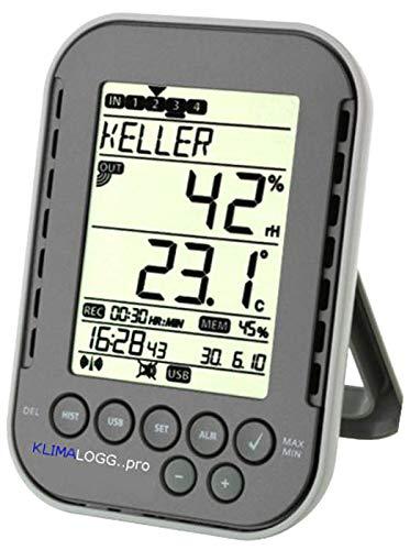 TFA Dostmann Profi-Thermo-Hygrometer mit Datenlogger-Funktion KlimaLogg Pro 303039. (anthrazit)