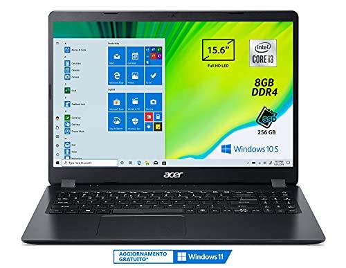 Acer Aspire 3 A315-56-3274 Pc Portatile, Notebook con Processore Intel Core i3-1005G1, Ram 8 GB...