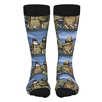 Viohik Unisex Adult Cotton Soft Winter Socks Stockings Duck Dynasty Outdoor Thick Socks Crew Sports Socks For Men Women 2 Black