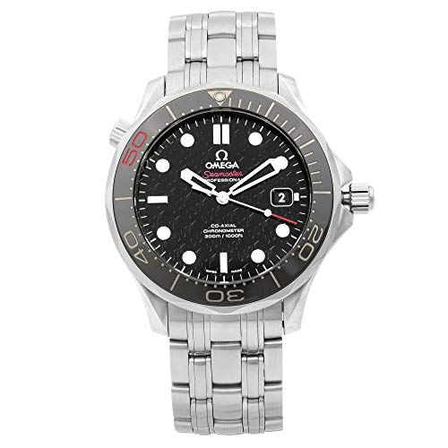 Omega Seamaster Diver James Bond Steel Black Dial Mens Watch 212.30.41.20.01.005