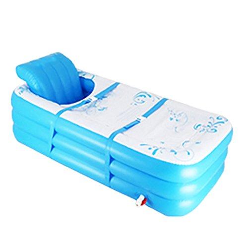 Adult Bath Barrel Fußpumpe Aufblasbares Bad New Portable Folding Baby Pool Verdickt Verlängert Blaues Kunststoffbecken Bad (größe : 150cm)