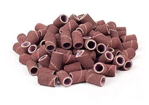 Lot de 100 cylindres abrasifs pour polisseuse /à ongles Grain moyen 150