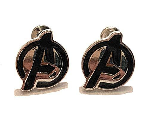 giulyscreations Pendientes de metal sin níquel con logo de Los Vengadores, Iron Man, Capitán América, Doctor, Who Spiderman, Thor Loki, Thanos, Black Panter Comics Fantasy Pop Cosplay