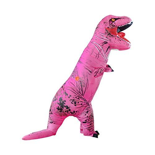 LOLANTA Disfraces de Fiesta para Adultos Divertidos Disfraces de Dinosaurio Disfraces de Halloween para Adultos (Rosa T-Rex, Niños)