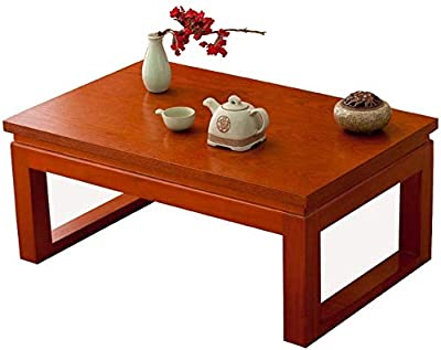 Selected Furniture/Coffee Table Solid Wood Table Tatami Bay Window Table Japanese Rectangular Table Zen Coffee Table Balcony Window Table (Color : 70x45x30cm)