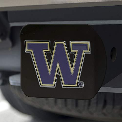 University of Washington Black Metal Hitch Cover - 3D Color Emblem