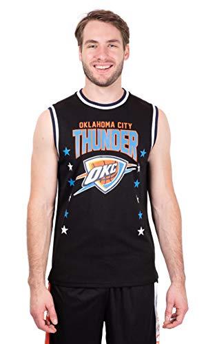 Ultra Game NBA Oklahoma City Thunder Mens Jersey Sleeveless Muscle T-Shirt, Black, Small