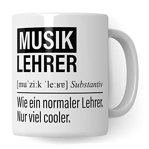 Musiklehrer Tasse, Geschenk für Musik Lehrer, Kaffeetasse Geschenkidee Lehrer, Kaffeebecher Lehramt Schule Musik Unterricht Witz