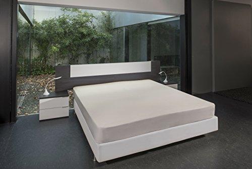 Bsensible Tencel Drap housse protecteur pour lit articulé pied et tête Écru 90+90 x 200