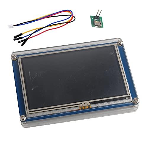 Nextion 3,5 pulgadas Pantalla táctil resistiva de HMI TFT LCD Módulo 480x320 16MB Flash + Estuche acrílico transparente para Arduino Raspberry Pi (NX4832T035)
