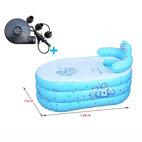 Chiti, draagbare badkuip, binnen en buiten, spa voor volwassenen, verdikking met thermoschuim, houdt de temperatuur vast