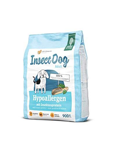 Green Petfood InsectDog Hypoallergen (5 x 900 g) | getreidefreies Hundefutter mit Insekten | nachhaltiges Trockenfutter für ausgewachsene und empfindliche Hunde | 5er Pack