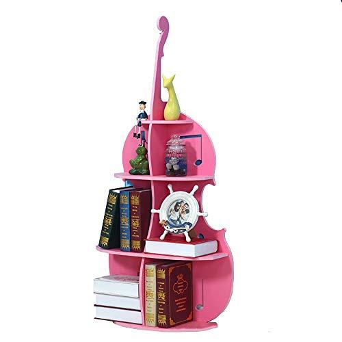 ZzheHou Librerías Estante Librero Clase Habitación De Los Niños De La Plataforma For Fomentar El Interés De Los Niños En La Lectura Almacenamiento En Rack (Color : Rosado, tamaño : 110x55cm)