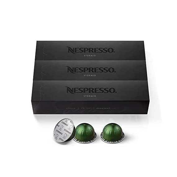 Nespresso Capsules VertuoLine, Giornio, Mild Roast Coffee, 30 Count Coffee Pods, Brews 7.8 Ounce 8 Product 1: DEEP & DENSE: This Nespresso coffee is unexpectedly thick and dense featuring a lingering aftertaste with notes of brown sugar and strongly toasted flavors incorporated into this dark roasted coffee Product 1: INTENSITY 9: This Nespresso coffee blend has a dense character that comes from roast splitting with a mix of Guatemalan Robusta, and bold and bitter notes while Mexican and Latin American Arabicas are roasted to enhance their notes of brown sugar Product 1: INTENSO COFFEE BREWS 7.8 OZ: These Nespresso VertuoLine pods provide you with a 7.8 OZ serving of coffee which is perfect for a longer drinking experience