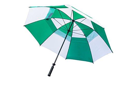 LONGRIDGE Boston Golf PALGW - Paraguas de Doble Capa Bicolor, Color Verde y Blanco