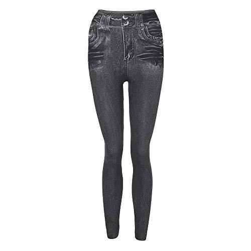 UOWEG Jeans Frauen Casual Denim Hosen Tasche Schlank Abnehmen Leggings Fitness Plus Size Leggins Länge Jeans Damen Imitation Denim Leggings...