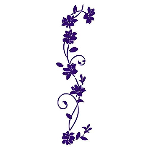 Pegatinas de Pared de Vid de Flores decoración del hogar habitación de los niños Nevera Papel Tapiz para Sala de Estar Mural de pelar y Pegar