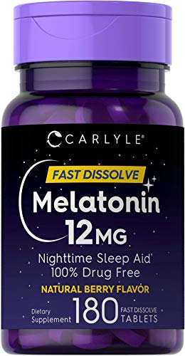 Carlyle Melatonin 12 mg Fast Dissolve 180 Tablets...