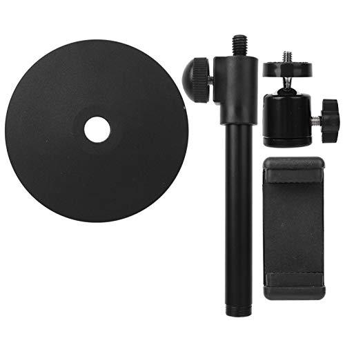 FOLOSAFENAR Altura máxima 37 cm / 14,57 Pulgadas Soporte de Escritorio Soporte de Mesa para teléfono Libre para moverse Tamaño pequeño Negro Adecuado para teléfonos móviles...