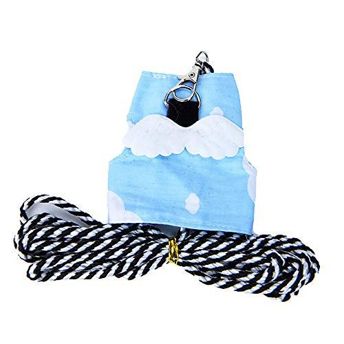 Yowablo Hundeleinen Hunde Kletterseil Hundehalfter Sicherheitsgurt Hunde Haustier Hundegurt Sicherheitsgeschirr Hunde Hundehalsband Kette Katzengarnitur (13.5-17cm,Himmelblau)