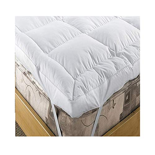 EXTRA DEEP 5' (12.5 cm) Duck Feather and 15% Down Mattress Topper, SINGLE Bed Size By Viceroybedding