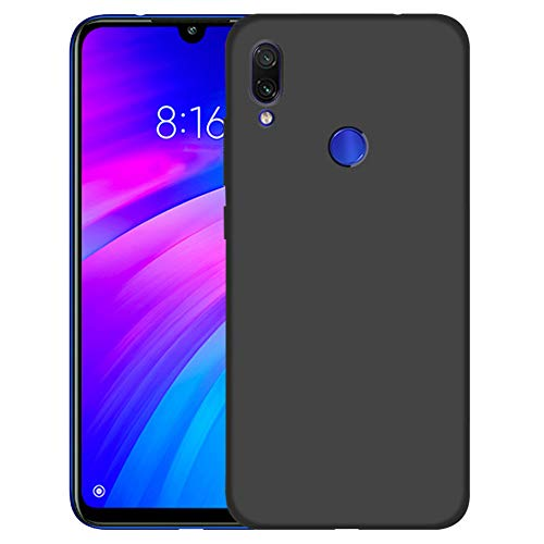 LAYJOY Funda Xiaomi Redmi 7/Redmi S3, Ligera Carcasa Silicona Suave TPU Gel Bumper Case de Protectora [Antideslizante] [Anti-Golpes] Cover para Xiaomi Redmi 7/Redmi S3 (2019) 6.26 Pulgadas -Negro