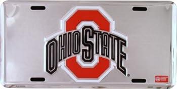 Hangtime Ohio State Buckeyes Super Stock Metal License Plate 6 x 12