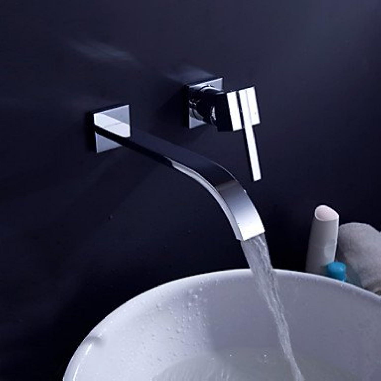 GDS Faucet£? Contemporary Brass Waterfall Bathroom Sink Faucet (Wall Mount)