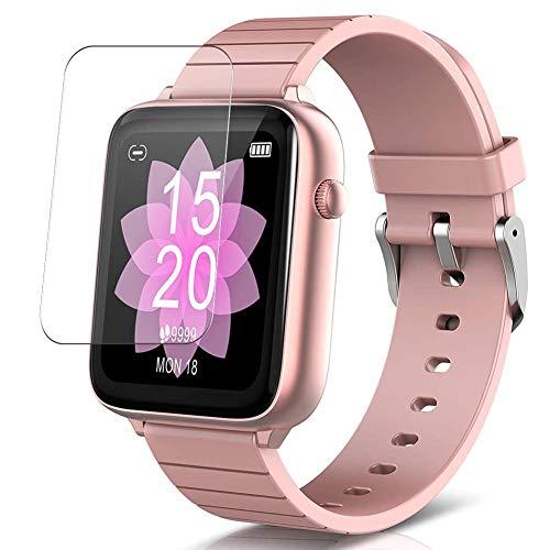 """Vaxson 3 Unidades Protector de Pantalla, compatible con ELEGIANT W88 W68 W98 U8 1.54"""" smart watch [No Vidrio Templado] TPU Película Protectora Reloj Inteligente Film Guard Nueva Versión"""
