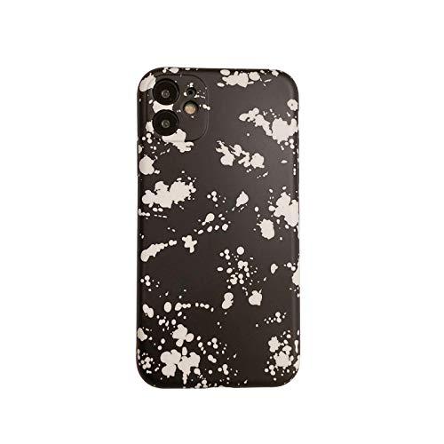 Splash tinta patrón pulsera teléfono casos para iphone 12 11 pro max 12mini x XS XR 7 8 más cadena suave IMD contraportada regalo-E-para iphone 7 8