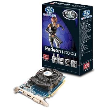 SAPPHIRE ビデオカードSAPPHIRE HD5670 512M GDDR5 PCI-E HDMI/DVI-I/VGA 11168-02-20R