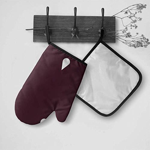 Wasserdichte isolierte Arbeitshandschuhe Regen Red Drop Nicht Teardrop Regenwasser Küche Isolierte Handschuhe Ofenhandschuh und Topflappen Set Wasserdicht hitzebeständig für Grillkochen Backen Grille