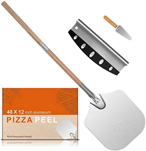 Nanbone 14 x12 Pizza Peel Aluminum Pizza Shovel Pizza Paddle Pizza Cutter Pizza Slicer with product image