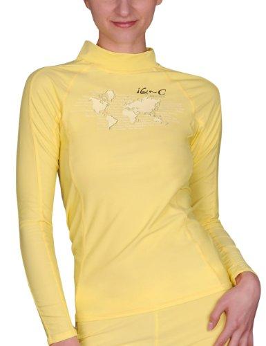 iQ-Company Damen UV Kleidung 300 Shirt Slim Fit Long Sleeve, yellow, XXS
