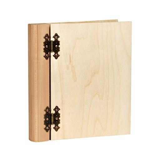Aldecor 1 Stück Heller Präsentationsordner Holz DIN A4 Ringbuch Ordner
