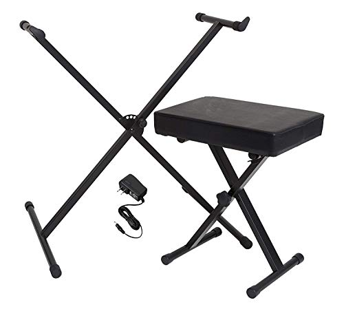 Find Bargain Yamaha Portable Keyboard Accessory Pack with Stand, Bench and Power Supply (Renewed)
