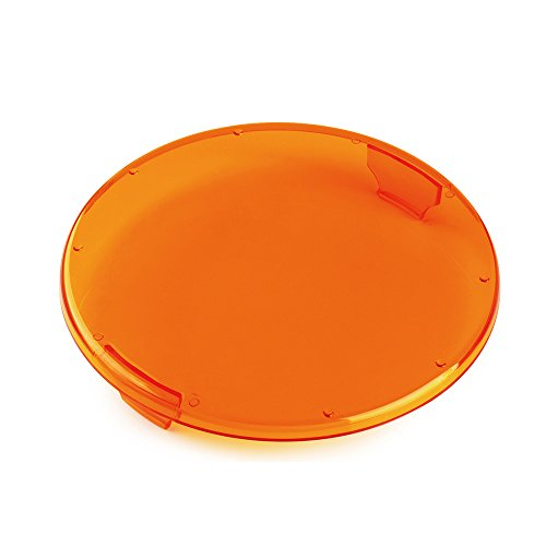 Xprite Plastic Clip-on Circle LED Amber Lens Cover For 9