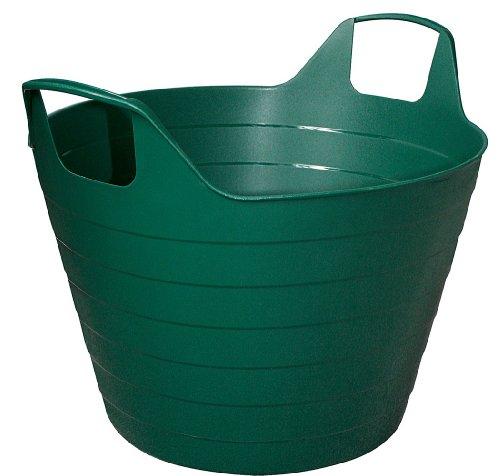 Flexikorb Einkaufskorb Wäschekorb Gartenkorb 45 cm mit Griffen, Farbe:dunkelgrün