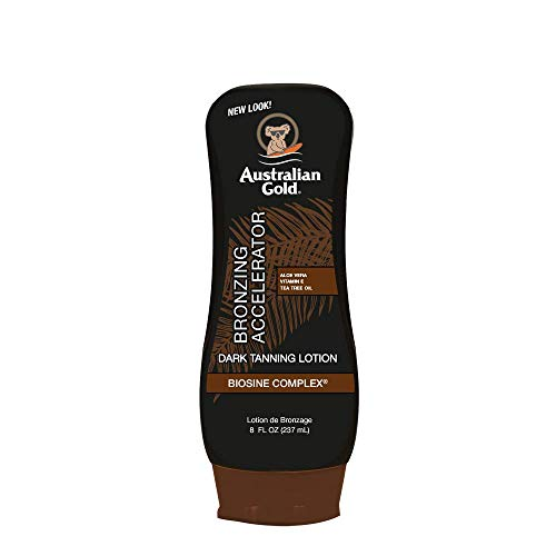 Australian Gold Dark Tanning Accelerator Lotion With Bronzer, 8 Ounce, New Package Same Formula, B003GX5SSC