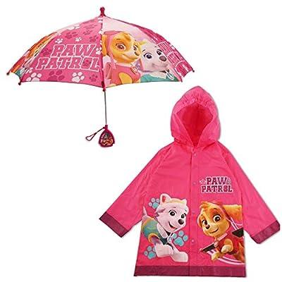 Nickelodeon Paw Patrol Slicker and Umbrella Rainwear Set, Little Girls Ages 2-7, Pink, Age 2-4